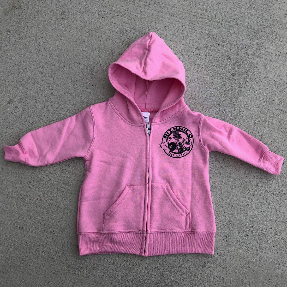 RIZNWILD | Baby hot pink zip up sweatshirt girl