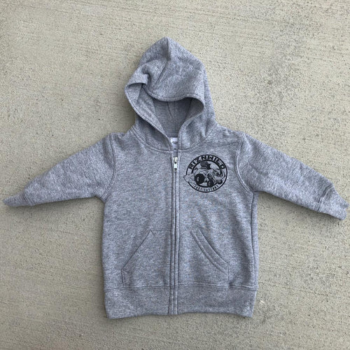 Eli-Fast Infant Fleece Zip Up Hooded Sweatshirt in Athletic Heather