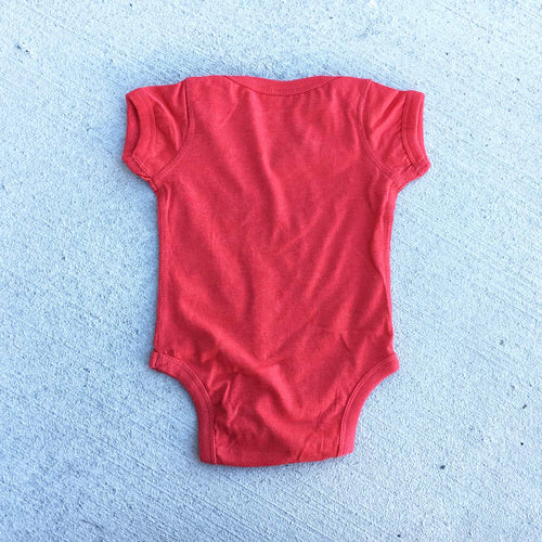 Eli Fast Baby Onesie in Heather Vintage Red