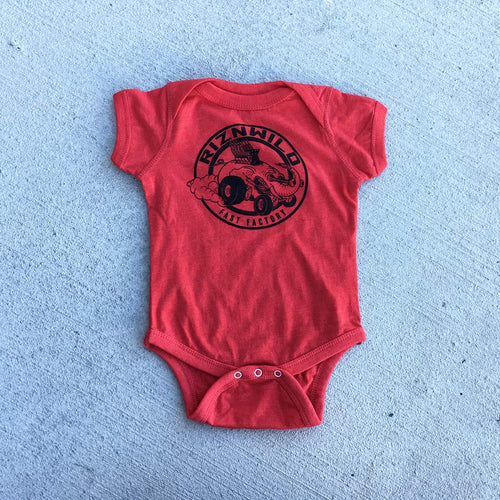 ELI FAST BABY ONESIE HEATHER VINTAGE RED