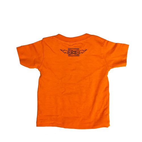 WILDLIFE BABY TEE IN ORANGE