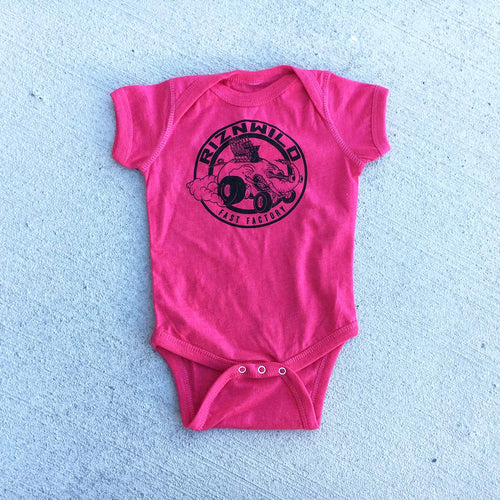 ELI FAST BABY ONESIE HEATHER HOT PINK