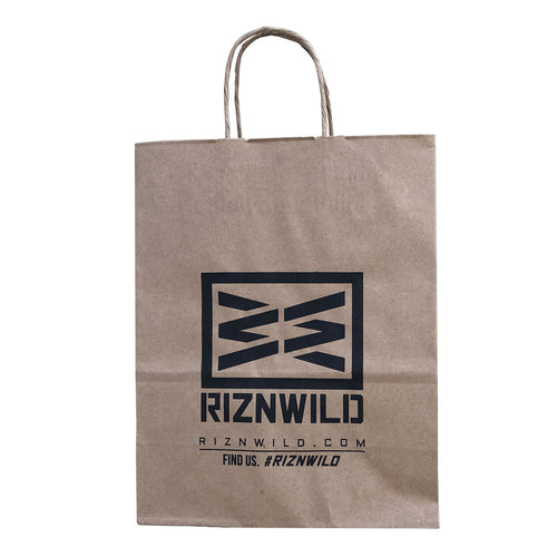 RIZNWILD | matte finish recycled paper, strong handles gift bags