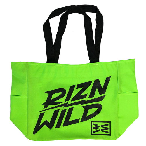 LIGHTNING TOTE BAG IN NEON GREEN