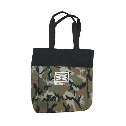 RIZNWILD | Camo tote back with logos