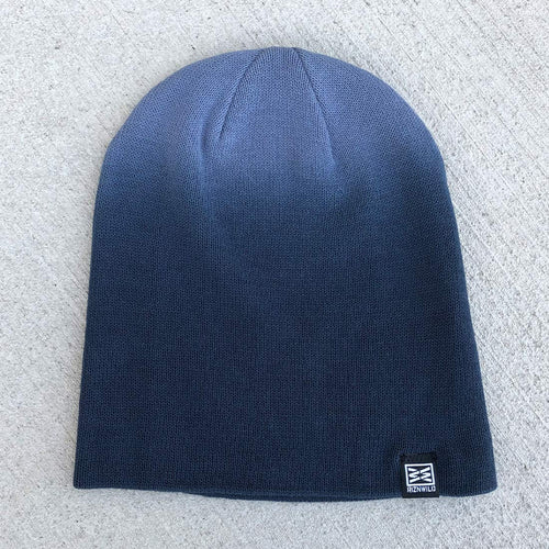 Mood Slouch Beanie in Navy Dip Dye