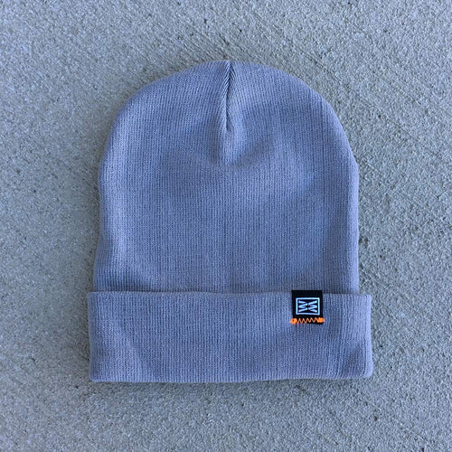 Despite Cuffed Beanie in Gray