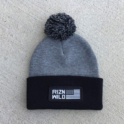 RIZNWILD | beanie with custom american flag patch