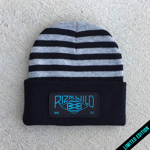 Energy Cuffed Beanie in Gray/Heathered Black