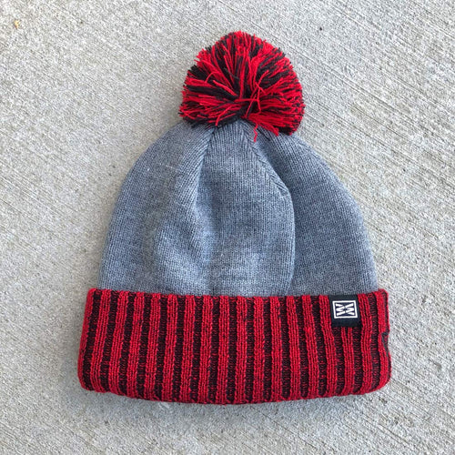 RIZNWILD | New Era fleece lined cuffed pom beanie