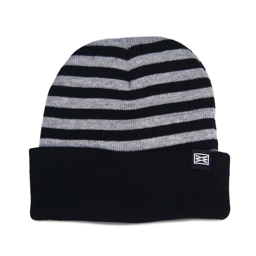 Division Cuffed Beanie in Gray/Heathered Black