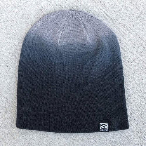 Mood Slouch Beanie in Black Dip Dye