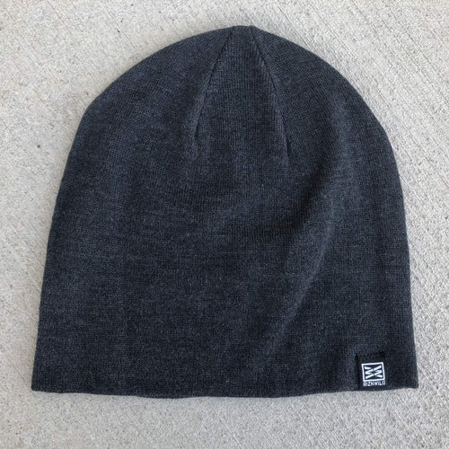 Mood Slouch Beanie in Charcoal Heather
