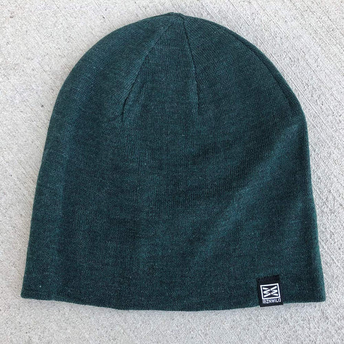 Mood Slouch Beanie in Forest Green Heather