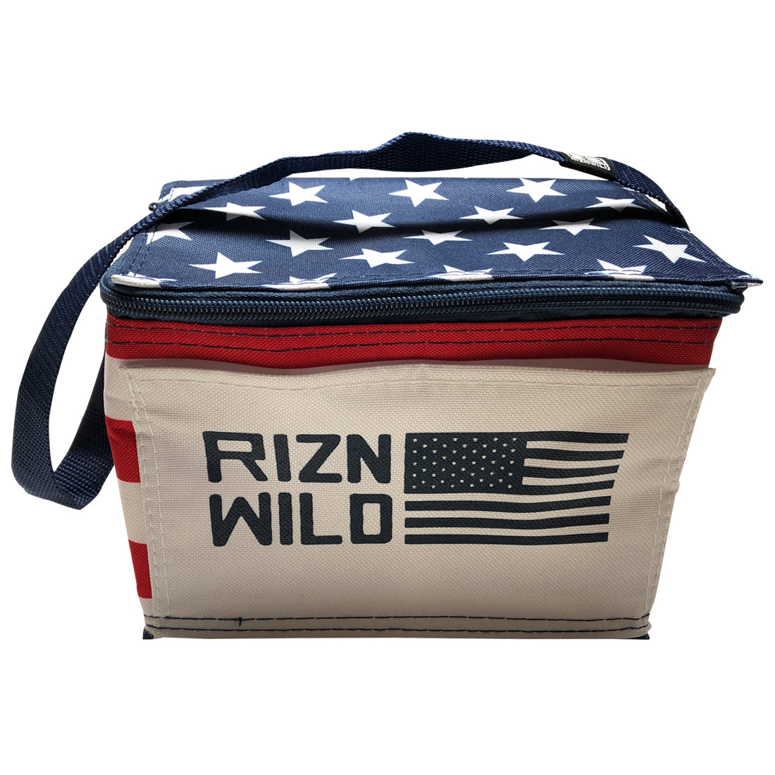 RIZNWILD 6-pack stars and stripes cooler
