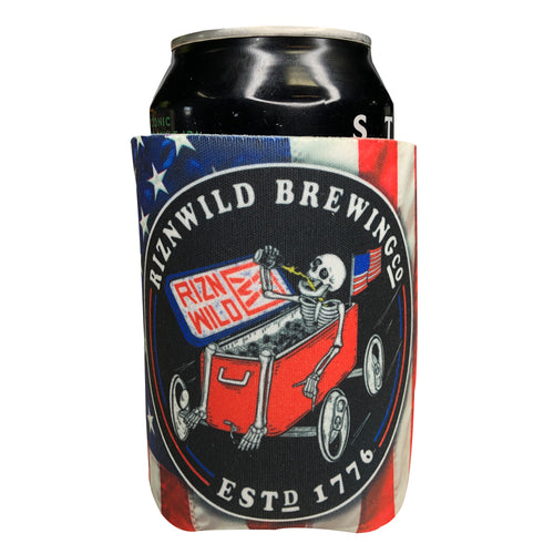 Shop RIZNWILD brew racer boating party koozie american style