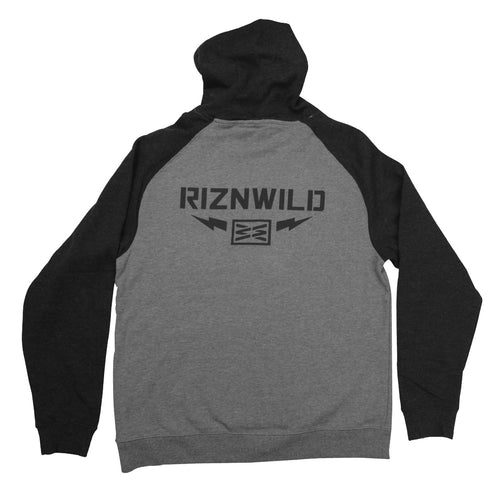 Thunder Mens Pullover Hoodie in Gunmetal Heather/ Charcoal Heather