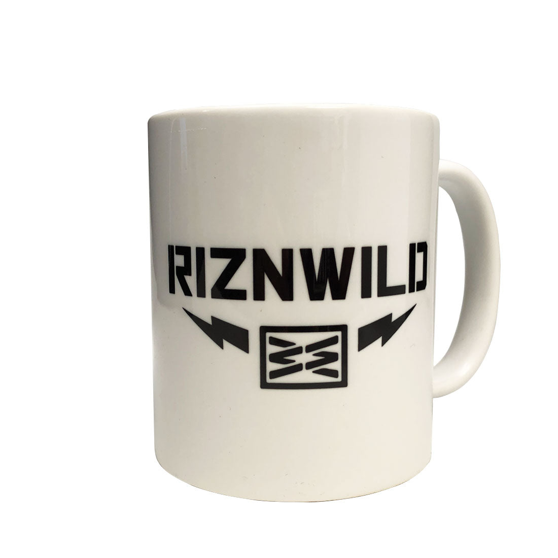 RIZNWILD | back of the mug lightning bolts logo black and white