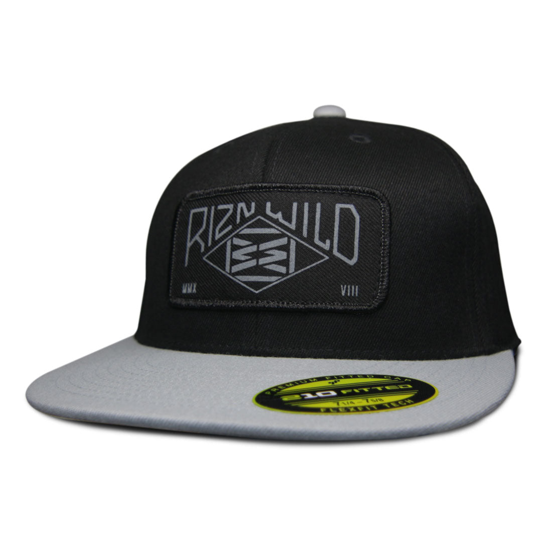 Range 210 Flat Bill Fitted Hat in Black/Silver