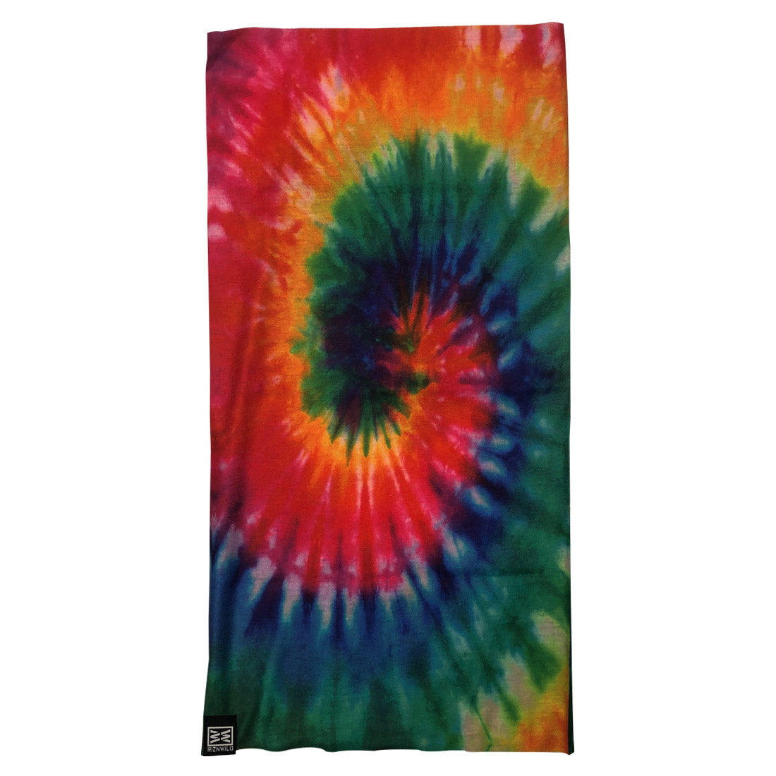 TWISTER GAITER MASK IN RAINBOW TIE-DYE
