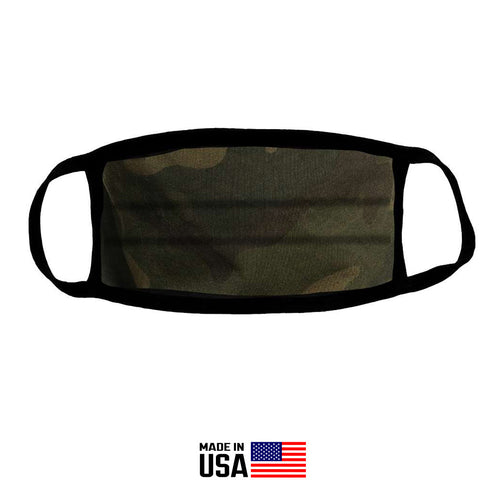 FACE MASK CLOTH 100% COTTON IN GREEN CAMO