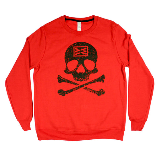 Jolly Roger Girls Crewneck Sweatshirt in Red
