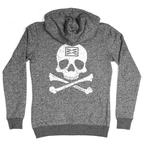 RIZNWILD | Girls zip up sweatshirts skull and cross bones design