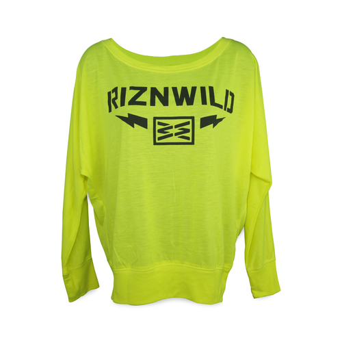 Neon Yellow girls flowy RIZNWILD long sleeve