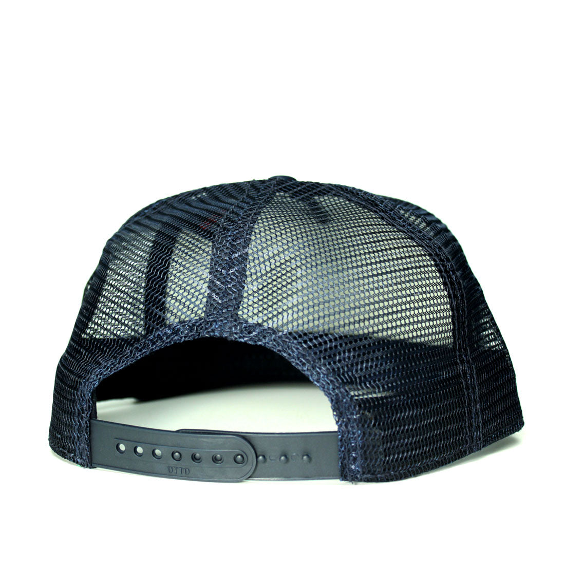 RIZNWILD | back view of navy trucker hat with snaps