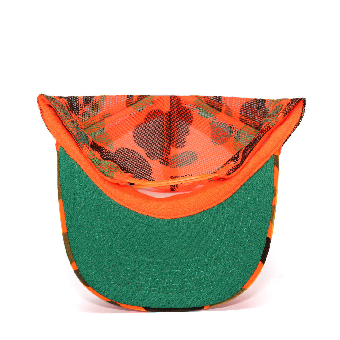 RIZNWILD | neon orange trucker hat with green under visor