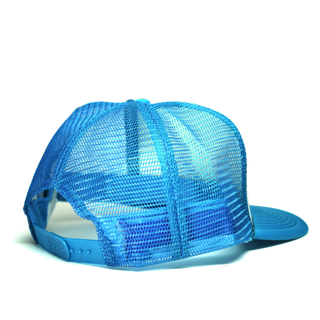 Back of a blue and white trucker hat | RIZNWILD