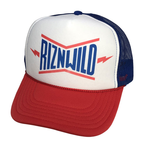 RIZNWILD | Rocket red, white, and blue foam trucker hat