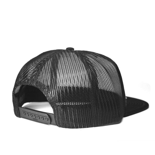 Wildlife Flat Bill Trucker Hat in Black