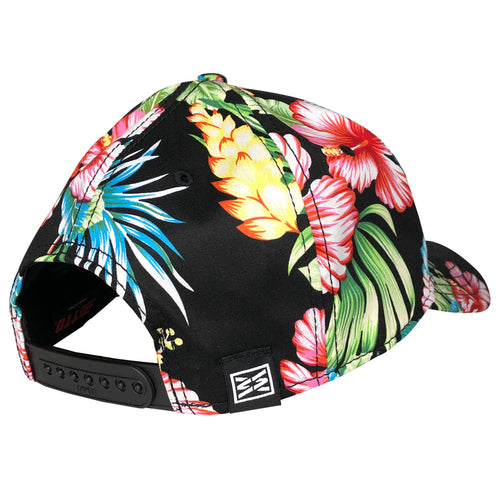 Hibiscus Otto Cap Snapback Baseball Curbed bill Hat