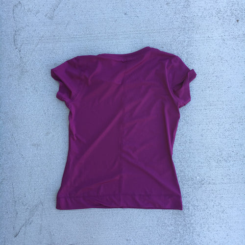 Left chest Logo girls moisture wicking tee