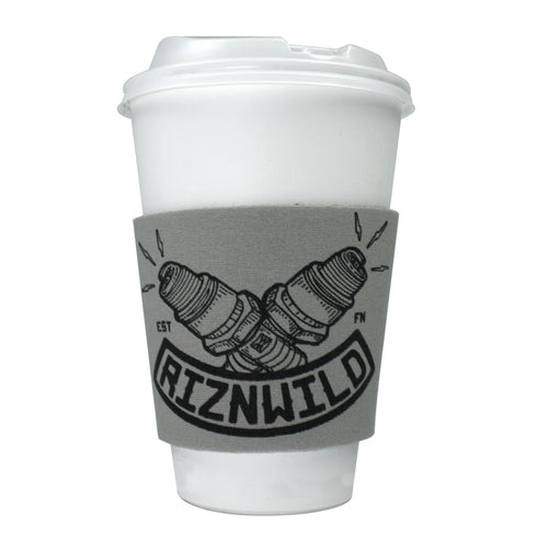 Flint Coffee Sleeve in Gray/Black