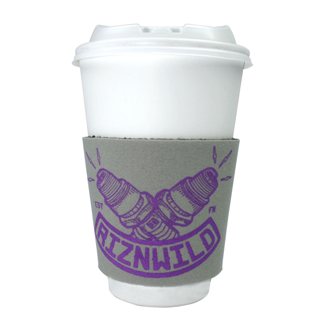 Flint Coffee Sleeve in Gray/Purple