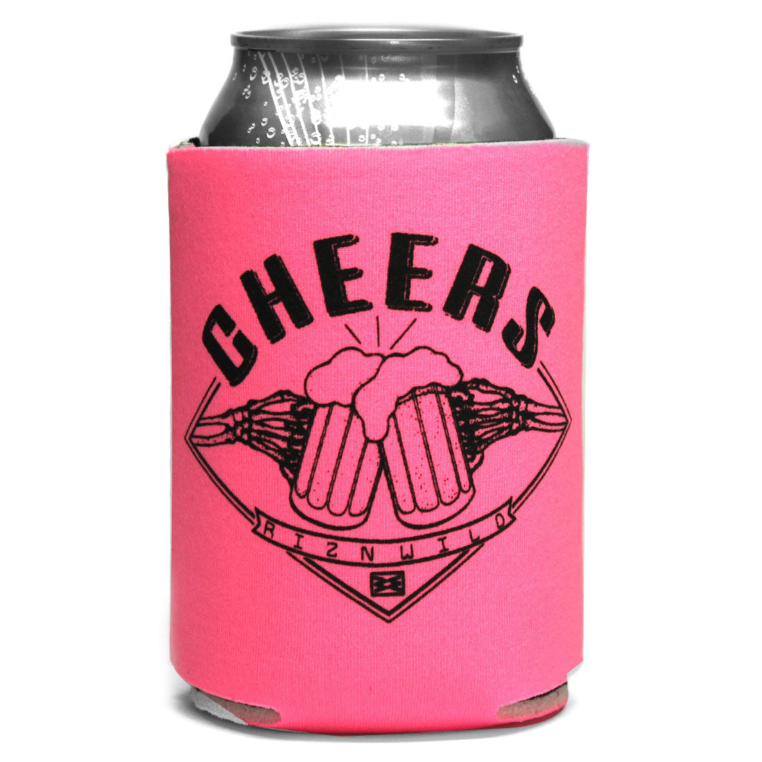 Cheers Koozie in Hot Pink