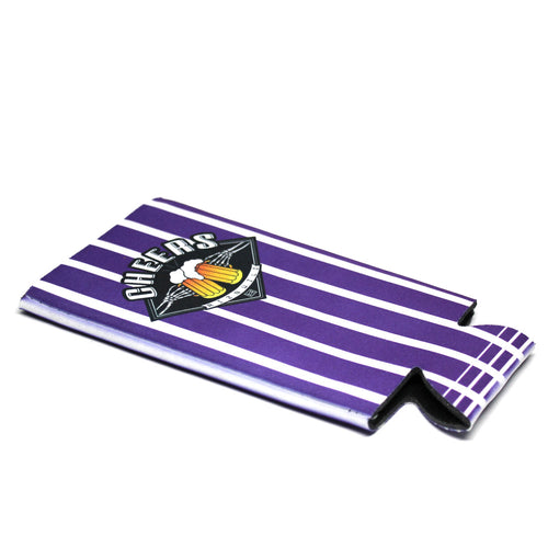 Cheers Tallcan Sublimated Koozie Black/Purple 24 OZ