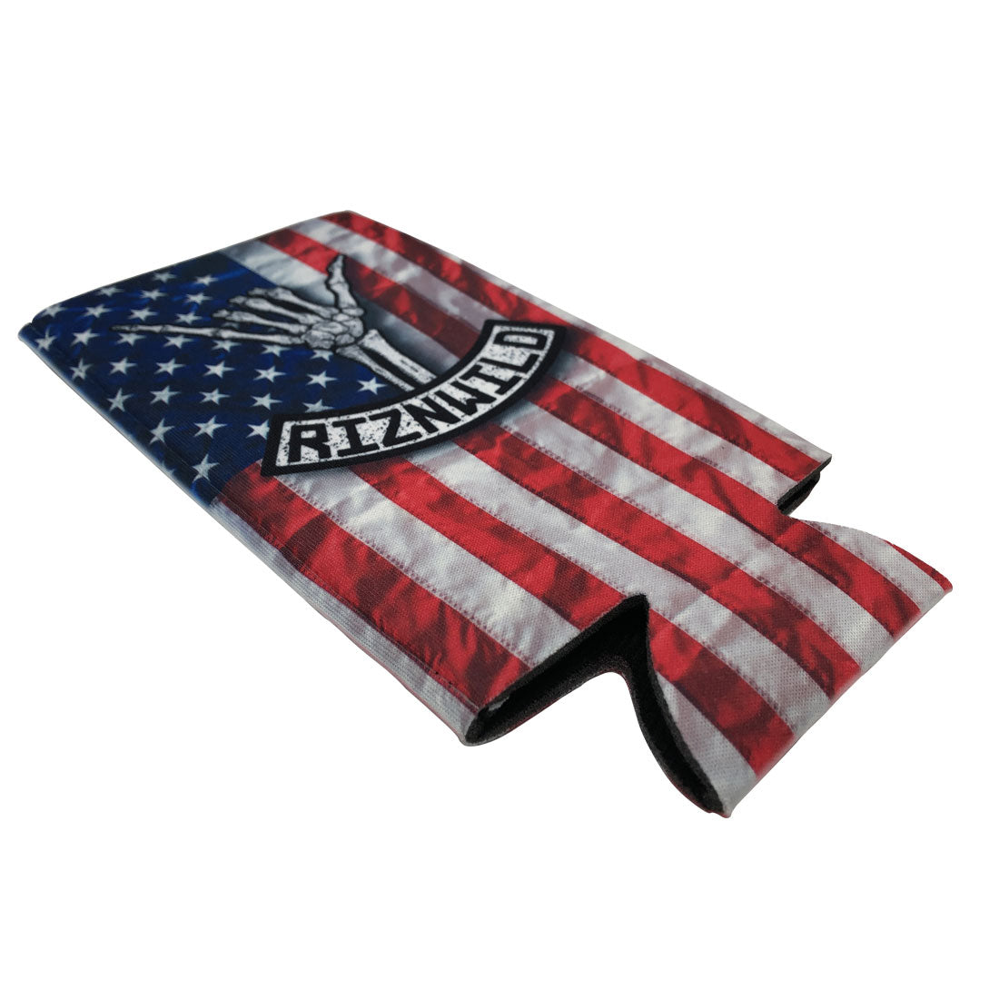 RIZNWILD | Sublimated American flag tall boy koozie