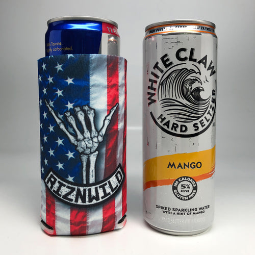 Shaka Slim Sublimated Koozie in America 12 oz