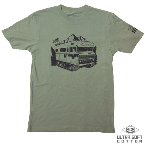 Block Mens Standard Tee in Charcoal Heather
