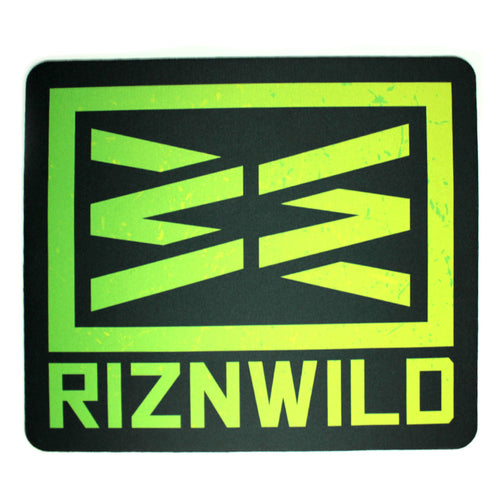RIZNWILD | neon green and neon yellow bright mousepad