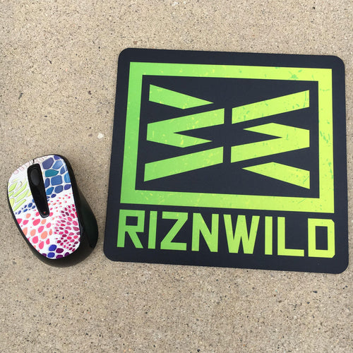 RIZNWILD | bright green mousepad, (mouse not included)