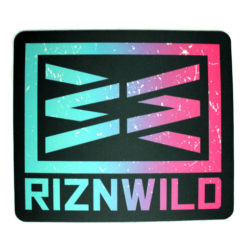 RIZNWILD | Neon pink and neon blue cool mouse pad