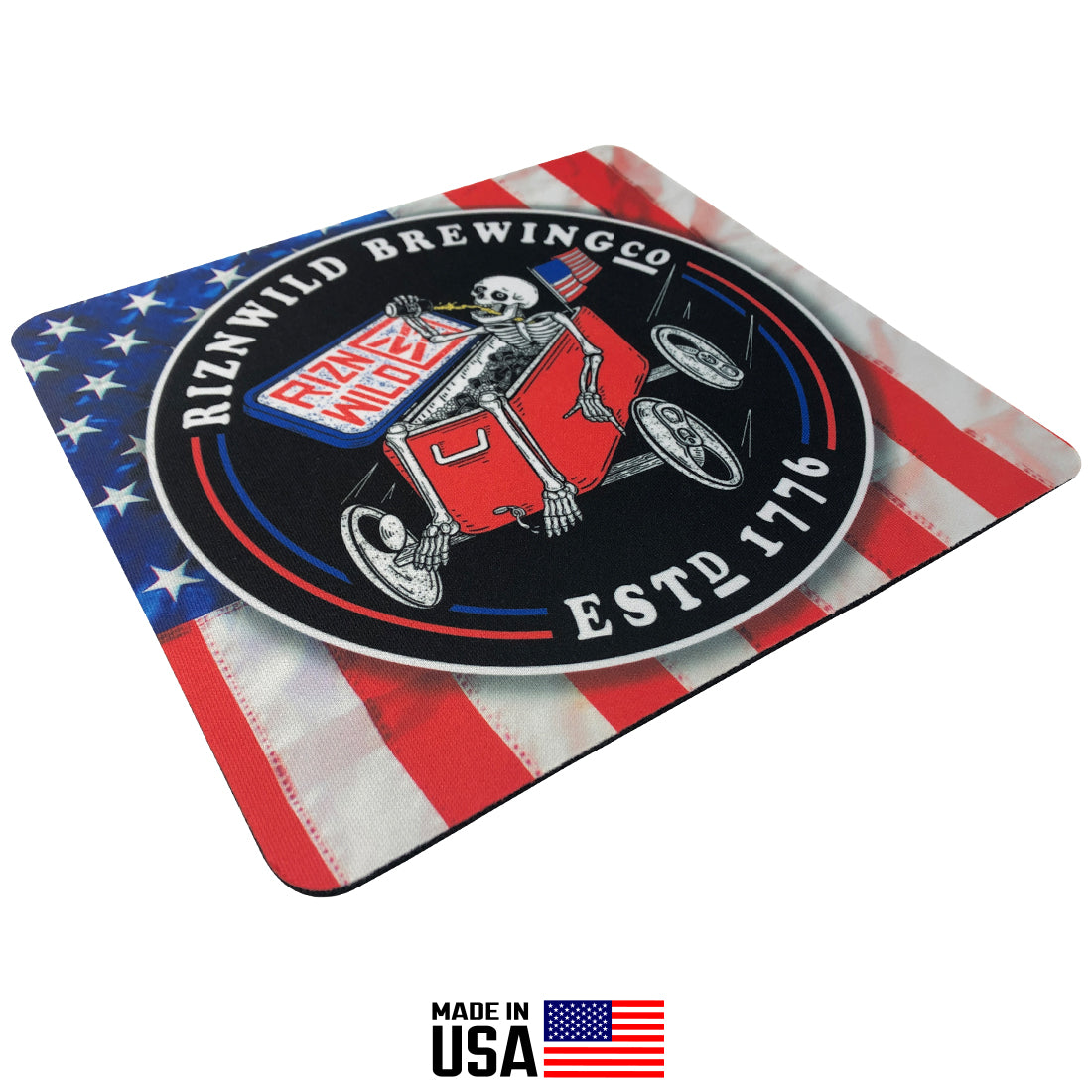 square RIZNWILD independence day ice chest mouse pad