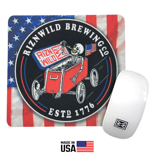 RIZNWILD red, white and blue american flag themed mouse pad