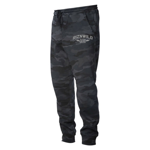 STORM MENS JOGGER SWEATPANTS IN BLACK CAMO