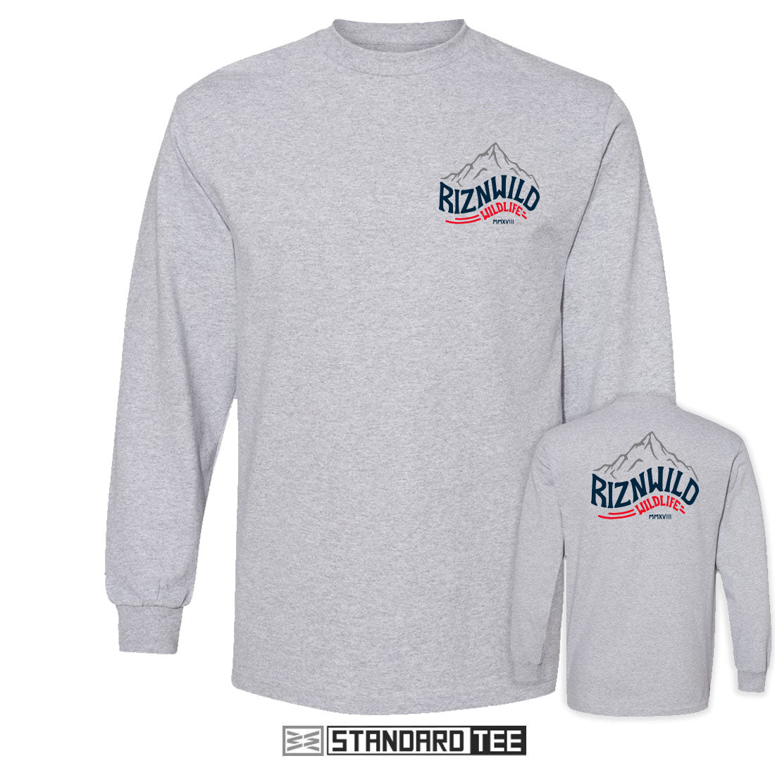 ROCKIES MENS LONG SLEEVE STANDARD TEE IN ATHLETIC HEATHER