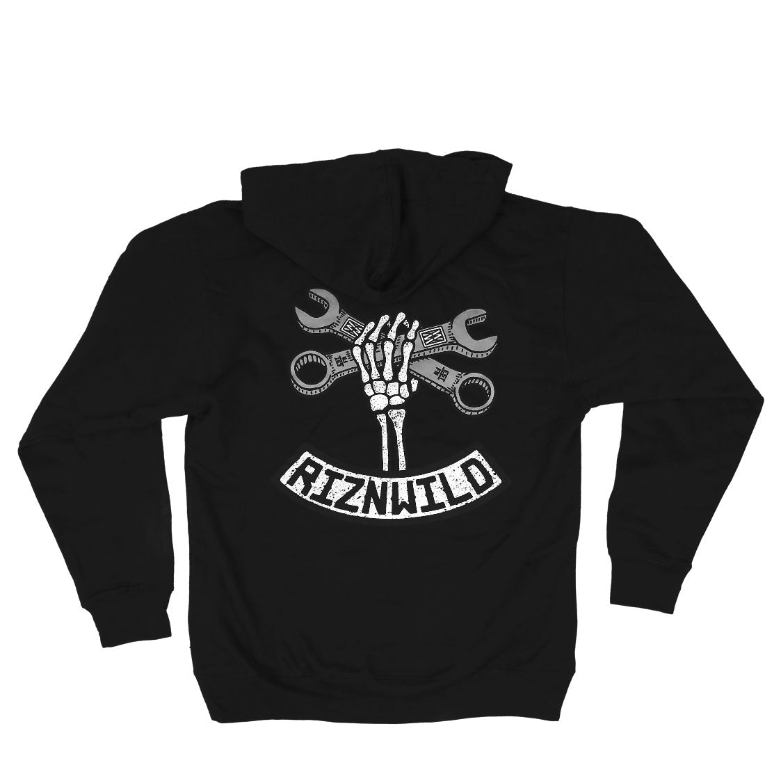 Wrench Twist Mens Midweight Pullover Sweatshirt in Black